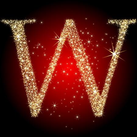 letter star W Stock Vector - 5719836