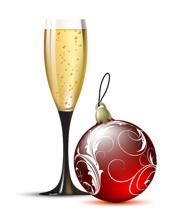 bubles: champagne with fir ball