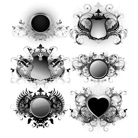shields decorative Vector