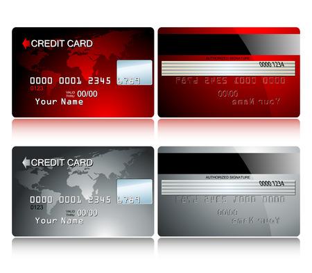 valuables: card credit Illustration