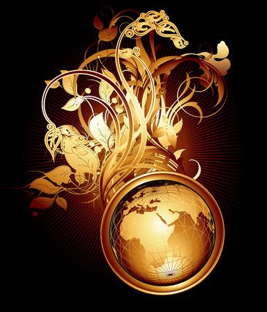 world floral Illustration