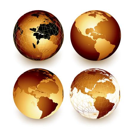 weltkugel asien: Welt Illustration