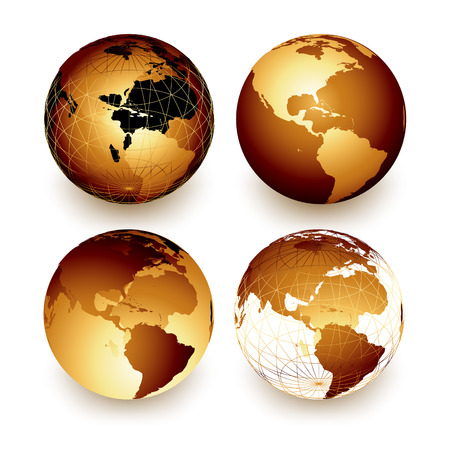 golden globe: world Illustration