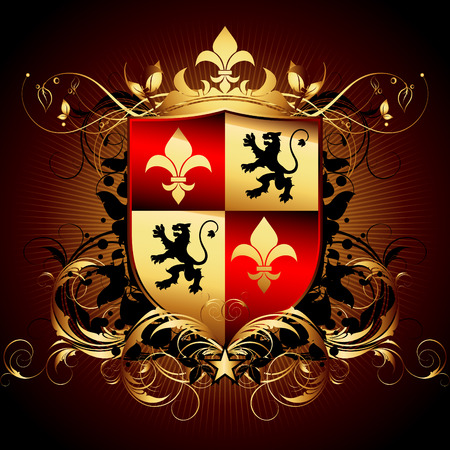 heraldic shield: ornamental shield