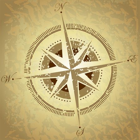 map compass: compass Illustration