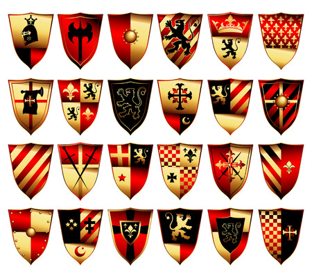 medieval banner: medieval set Illustration