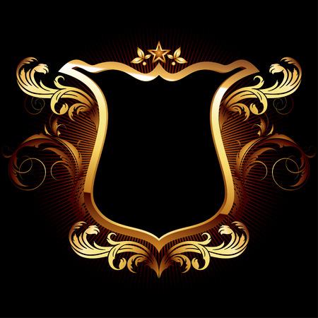 dekorative Schild
