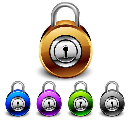 padlocks set Stock Vector - 7292429