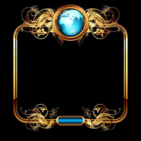 Welt mit verzieren