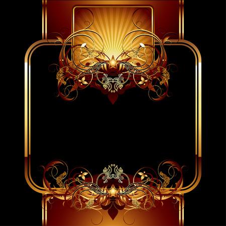 golden shield: ornate frame