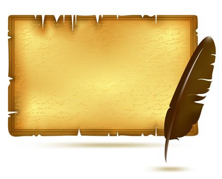papiro: carta con piuma