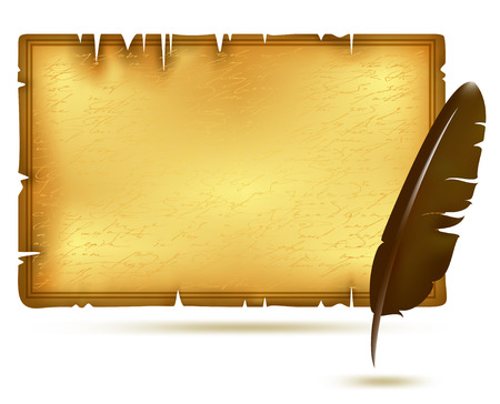 Papier mit Feder Illustration