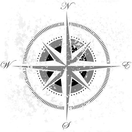 old world: compass Illustration