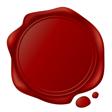 guarantee seal: sellos de cera  Vectores