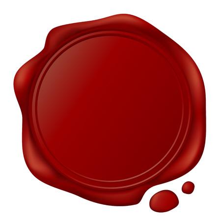 red wax seal: wax seal Illustration