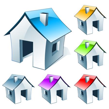 web icon house Stock Vector - 7836510