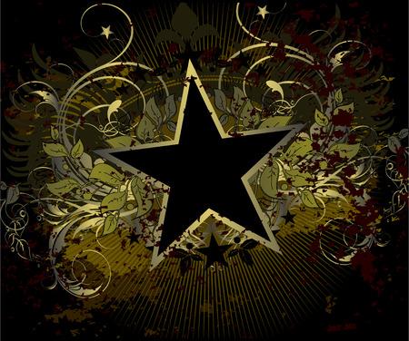 military stile star background