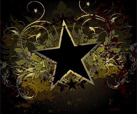 medieval banner: military stile star background