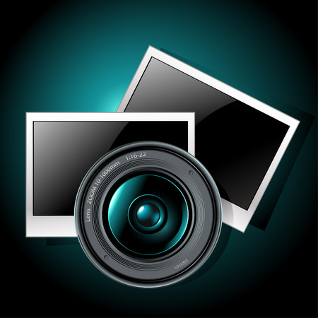 lens with photo frames Stock Vector - 8071267