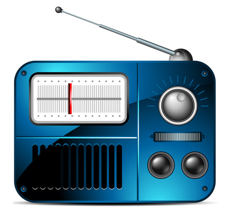 radio station: old FM radio icon