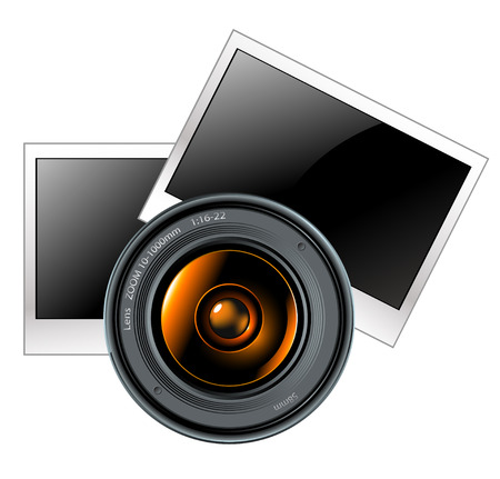lens with photo frames Stock Vector - 8071316