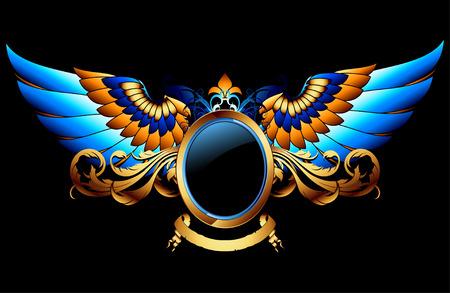 shield wings: ornamental shield