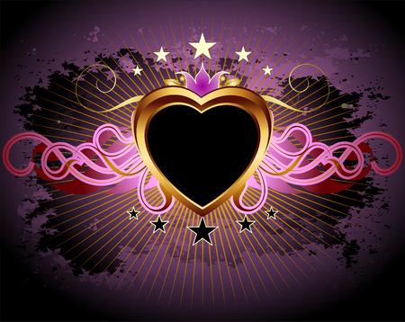 heart and crown: telaio di cuore Vettoriali
