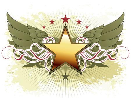 Sterne mit kunstvollen Elementen Illustration