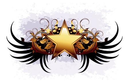 grunge wings: scudo ornamentale