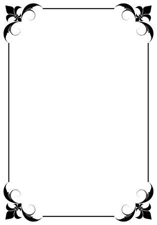 simple decorative frame Stock Vector - 9361766