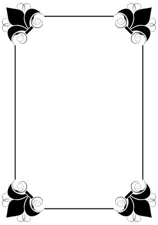 simple decorative frame Stock Vector - 9361768