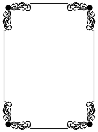 simple decorative frame Stock Vector - 9361774