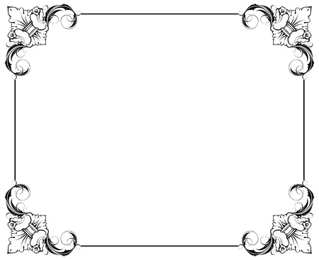 simple decorative frame Stock Vector - 9361777