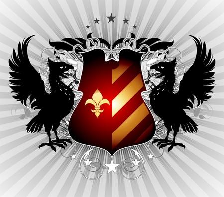 golden eagle: ornamental shield