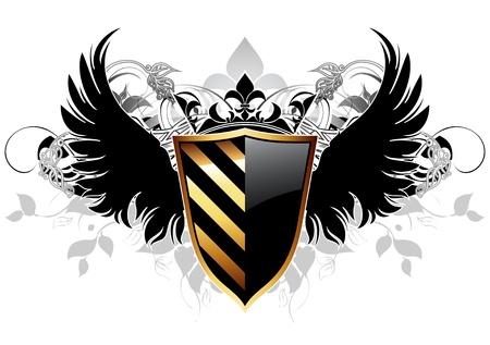 ornamental shield Stock Vector - 9851709