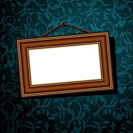 vintage baguette frame Vector