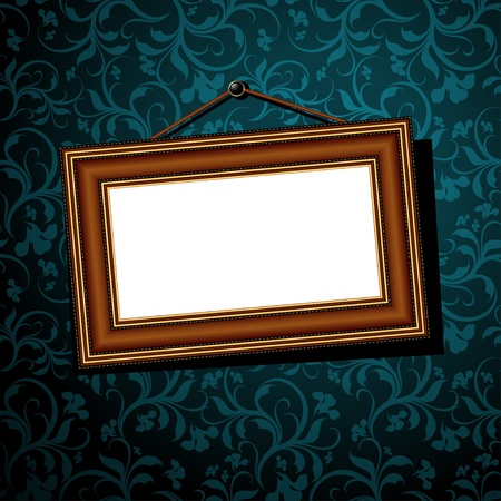 wall decor: vintage baguette frame