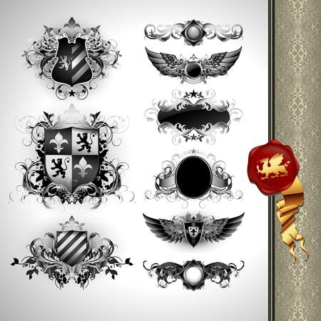lion wings: escudos de her�ldica medieval