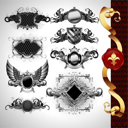 medieval heraldry shields Stock Vector - 10224474