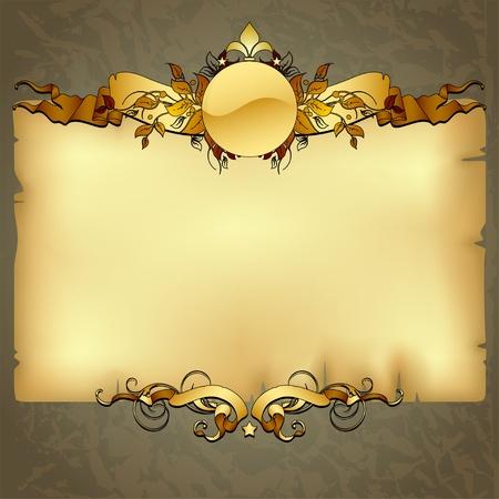 antikes papier: verzierten Rahmen