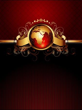 marcos redondos: mundo con marco ornamentado