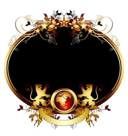 world with ornate frame Stock Vector - 10251970
