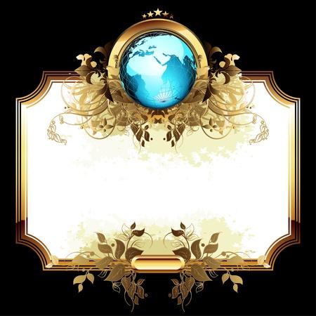 Welt mit verzierten Rahmen