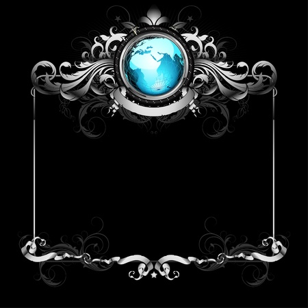 world with ornate frame Stock Vector - 10292320