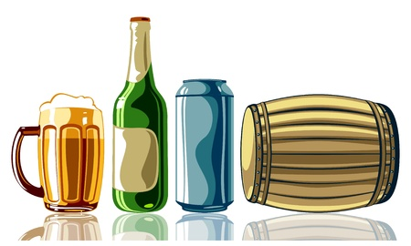 barrels set: beer set