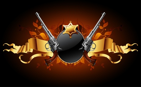 geweer: sheriff ster met geweren