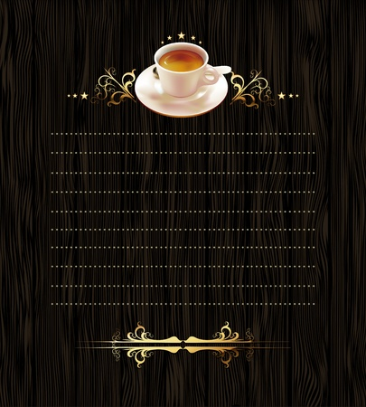 cup of coffee with ornate elements Illustration