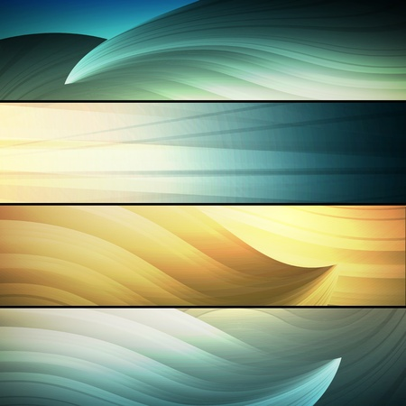 striped band: set of abstract frames