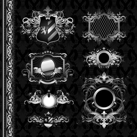 oval shape: medieval heraldry shields