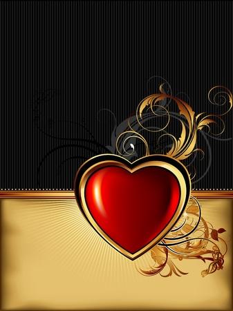 golden heart: heart frame
